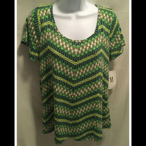 Size Medium LuLaRoe Top Kermit the Frog NWT